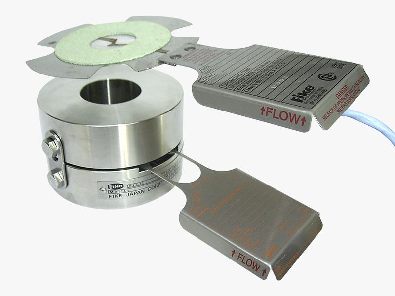 BC-2型インディケーターとラプチャーディスク&ホルダー